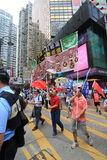 Hong Kong activists march ahead of vote on electoral package Royalty Free Stock Images
