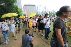 Hong Kong activists march ahead of vote on electoral package Stock Photography