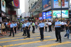 2015 Hong Kong activists march ahead of vote on electoral package Royalty Free Stock Photo