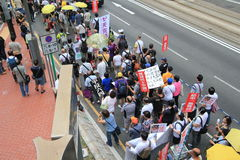 2015 Hong Kong activists march ahead of vote on electoral package Stock Image