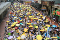 2015 Hong Kong activists march ahead of vote on electoral package Royalty Free Stock Photos