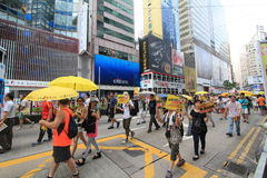 2015 Hong Kong activists march ahead of vote on electoral package Stock Photos