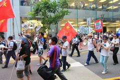 2015 Hong Kong activists march ahead of vote on electoral package Royalty Free Stock Images
