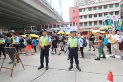 2015 Hong Kong activists march ahead of vote on electoral package Royalty Free Stock Photography