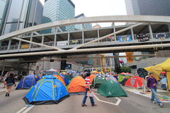 Hong Kong Admiralty umbrella movement Royalty Free Stock Photography