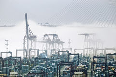 Hong Kong ładunku port Zdjęcia Royalty Free