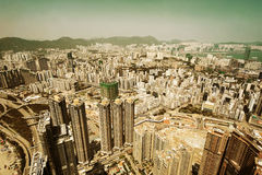 Hong Kong aerial Royalty Free Stock Photo