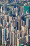 Hong Kong aerial Royalty Free Stock Photography