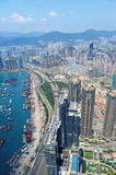 Hong Kong aerial view Stock Image