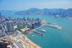Hong Kong aerial view Stock Photo