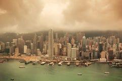Hong Kong aerial view Royalty Free Stock Photos