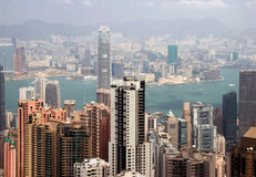 Hong Kong Aerial View Royalty Free Stock Image