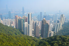 Hong Kong Aerial view Stock Images
