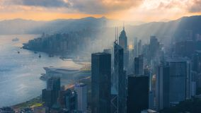 Hong Kong Aerial View. Waiting for sunshine for different picture stock images