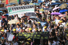 Hong Kong against government marches 2012 Royalty Free Stock Images