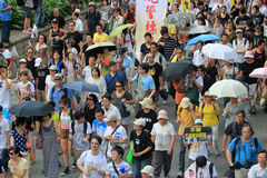 Hong kong against government marches 2012 Stock Photo