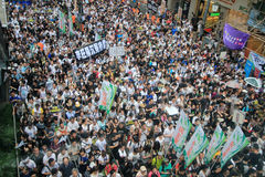 2012 Hong kong against government marches Stock Photo