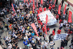 2012 Hong kong against government marches Royalty Free Stock Images