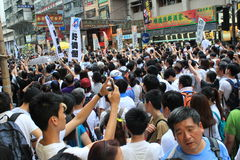 Hong kong against government marches 2014 Stock Image