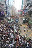2012 Hong Kong against government marches Royalty Free Stock Photo