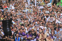 2012 Hong Kong against government marches Royalty Free Stock Photography