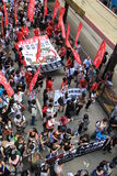 2012 Hong Kong against government marches Stock Image