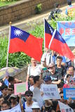 Hong Kong against government marches 2012 Stock Images