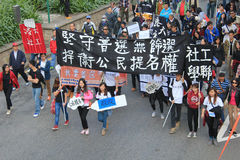 Hong Kong against government marches 2012 Stock Photos