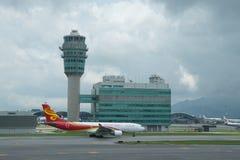 Hong Kong Airlines Airbus A330. At Hong Kong International Airport Royalty Free Stock Image