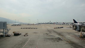 Hong Kong Airport stock videobeelden