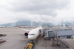 Hong Kong airport Stock Image