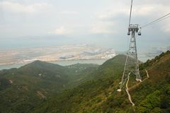 Hong Kong Airport from Cable Car Stock Photos