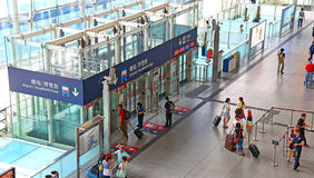 Hong Kong airport express station, hong kong Stock Photo
