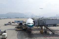 Hong Kong airport in Hong Kong. Royalty Free Stock Photography