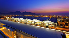 Hong kong airport sunset Stock Images