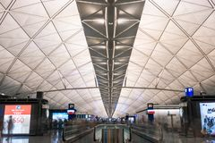 Hong Kong Airport Symmetry fotos de archivo