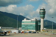 Hong Kong Airport tower Stock Image