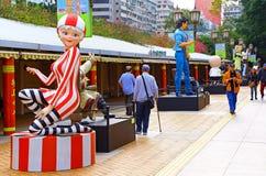 Hong Kong aleja Komiczne gwiazdy obrazy stock