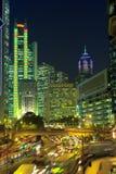 Hong Kong alla notte Immagine Stock