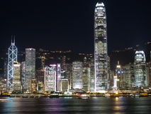 Hong Kong alla notte Immagini Stock
