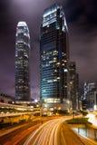 Hong Kong alla notte Fotografia Stock