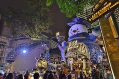 Hong Kong alla notte di Natale Immagine Stock