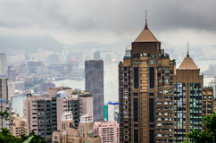 Hong Kong-Ansicht von der Spitze von Victoria-Park lizenzfreie stockfotos