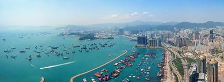 Hong Kong antenn Fotografering för Bildbyråer