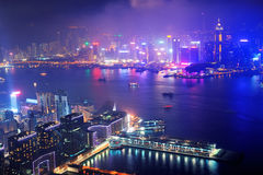 Hong Kong antennnatt Arkivfoton