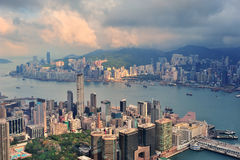 Hong Kong antennsikt Royaltyfri Bild