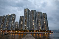 Hong Kong Ap Lei Chau stockbilder