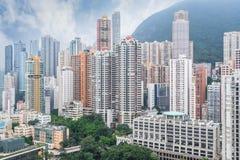Hong Kong apartment block Royalty Free Stock Images