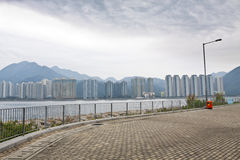 Hong Kong apartment blocks along the coast Stock Photos