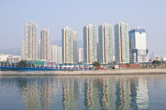 Hong Kong apartment blocks in downtown area Stock Photo